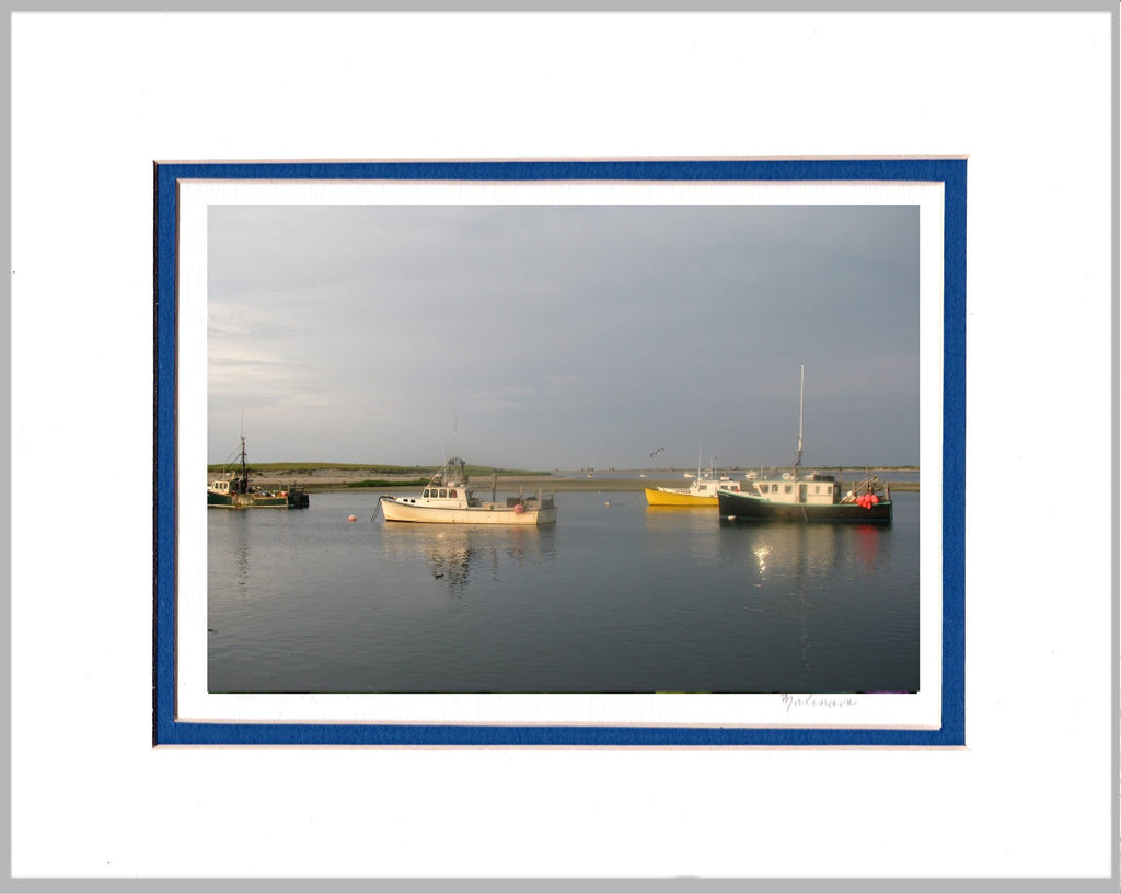 Lobster Boats, Cape Cod Matted Print