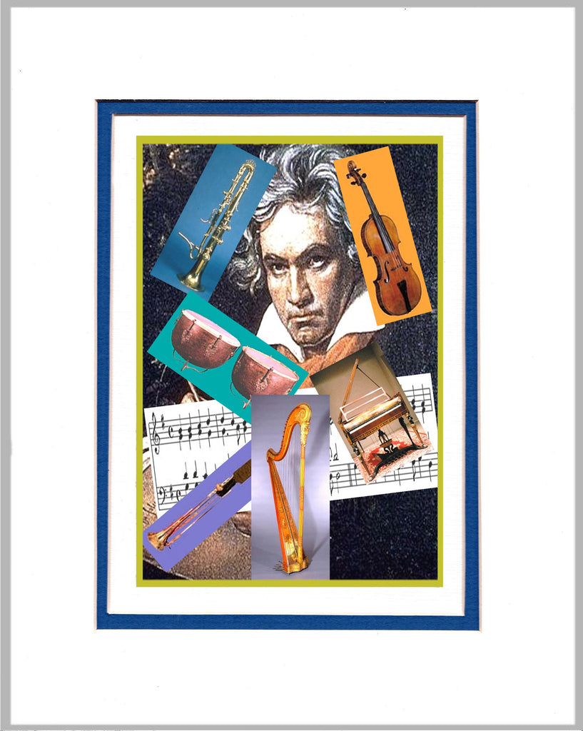Ludwig van Beethoven and Period Instruments Matted Print