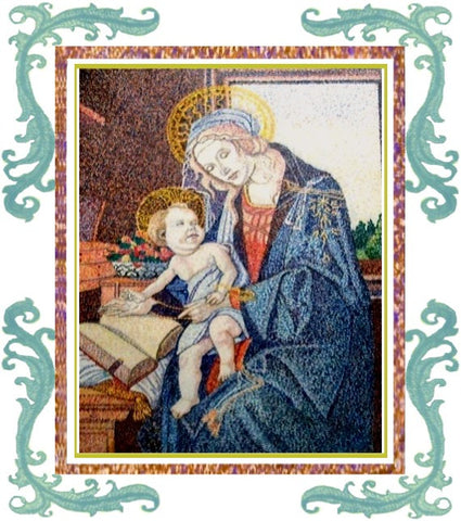 Madonna of the Book Painting (Reproduction)