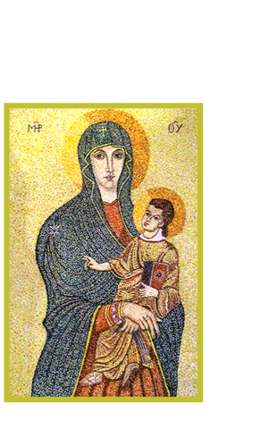 Madonna and Child Matted Print