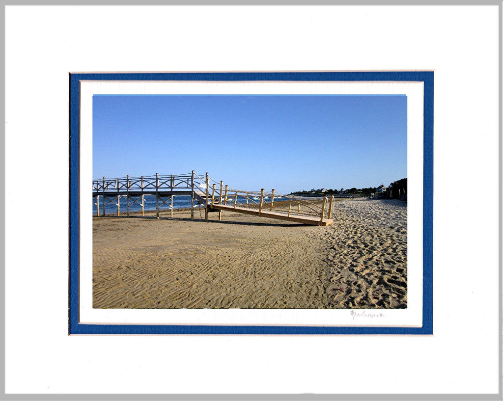 Morning at Beach, Cape Cod Matted Print
