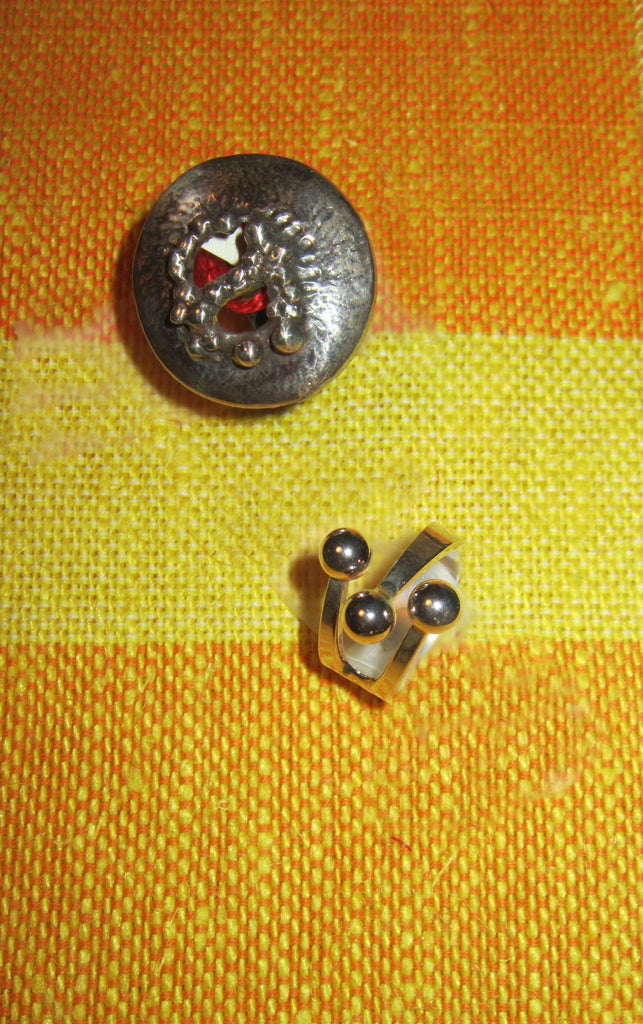 Norwegian Sterling Silver Mid Century slightly adjustable rings