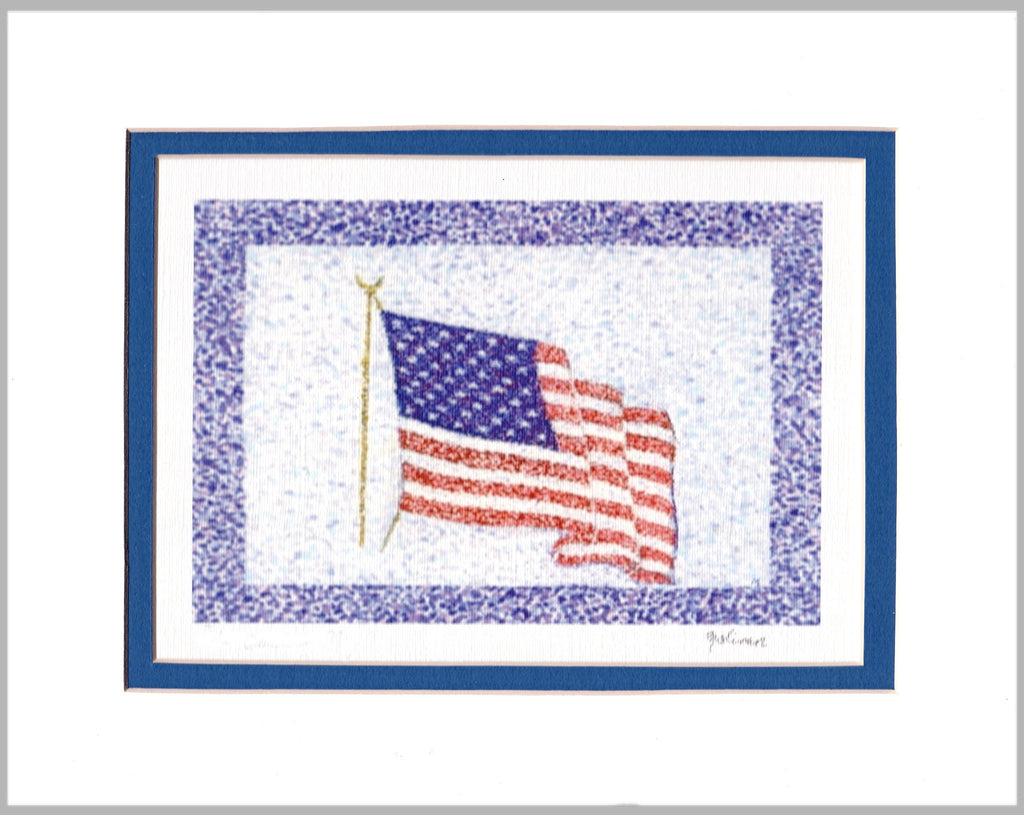Old Glory Matted Print