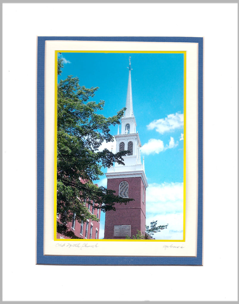 Old North Church Matted Print