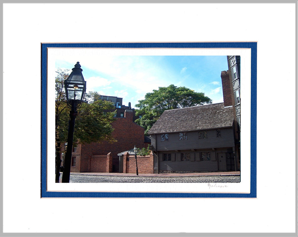 Paul Revere House, Boston Matted Print