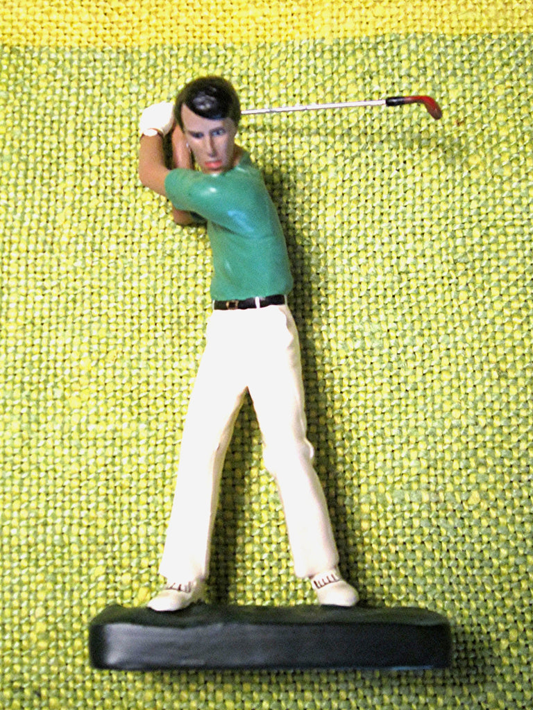 Golfer, Handcast and handpainted Vintage English Pewter