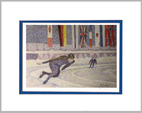 Speed Skaters Matted Print