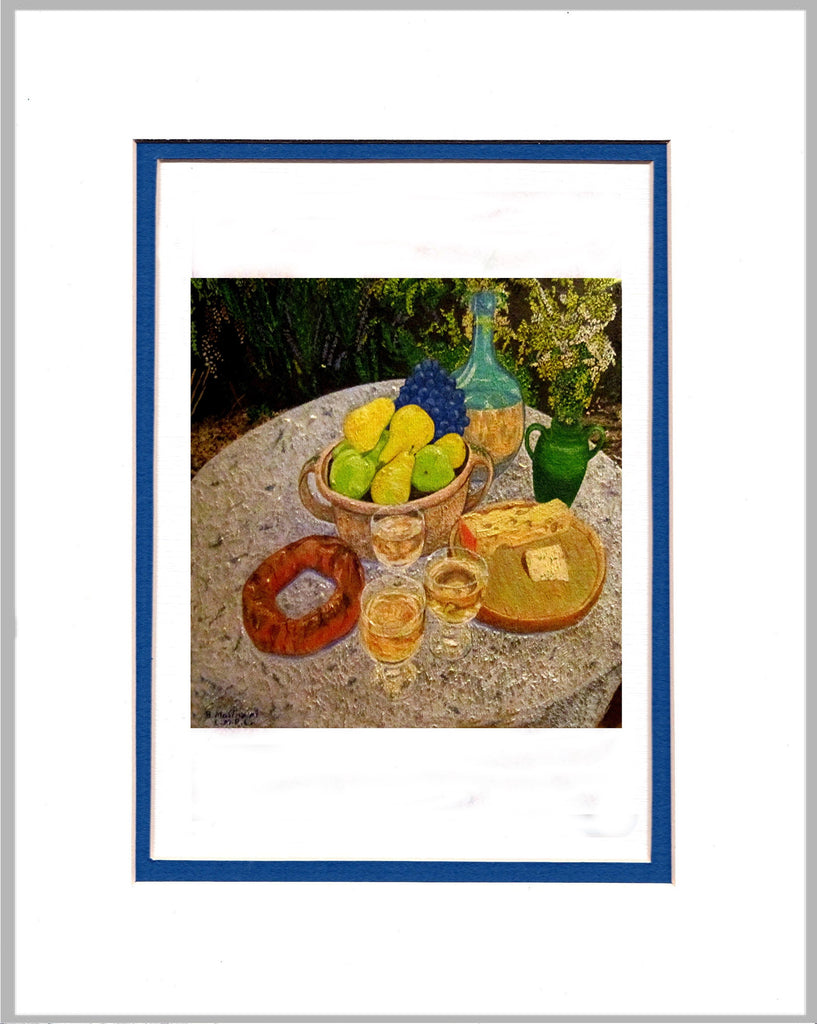 Still Life with Pears Matted Print