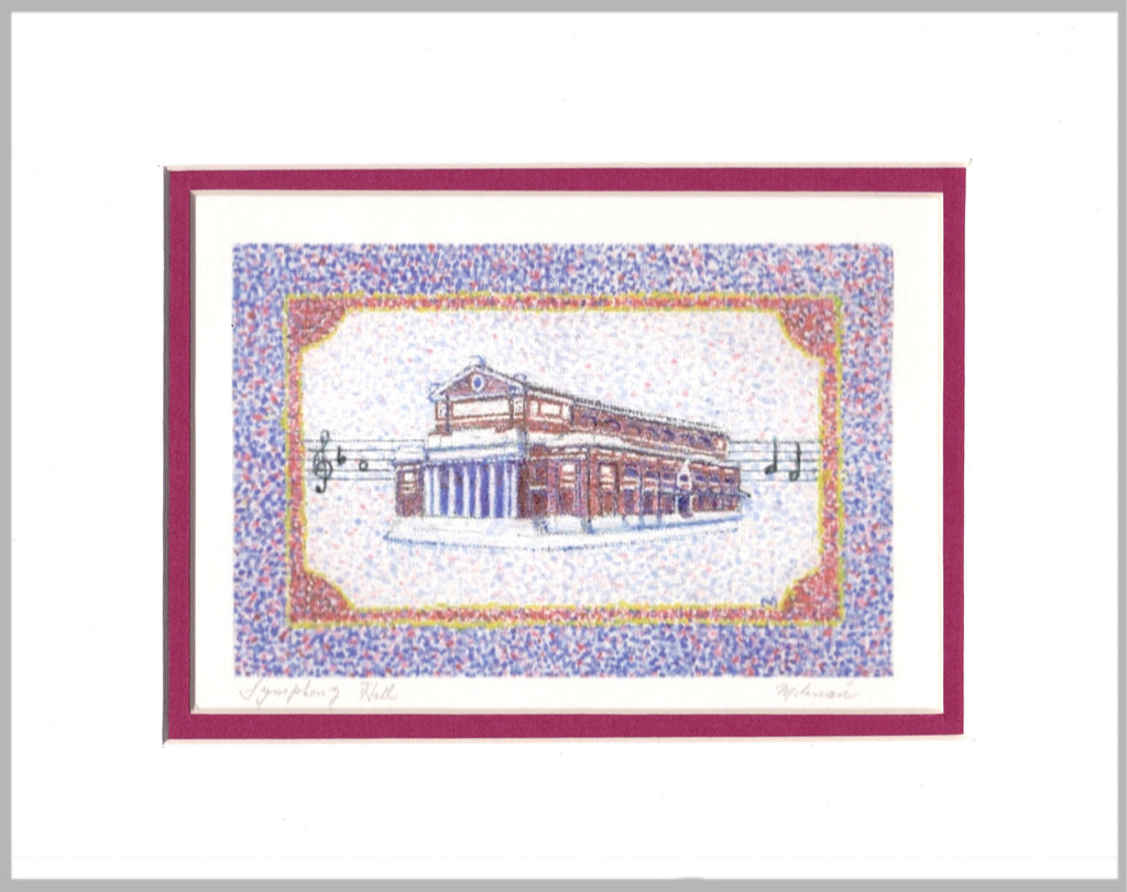 Boston Symphony Hall Matted Print