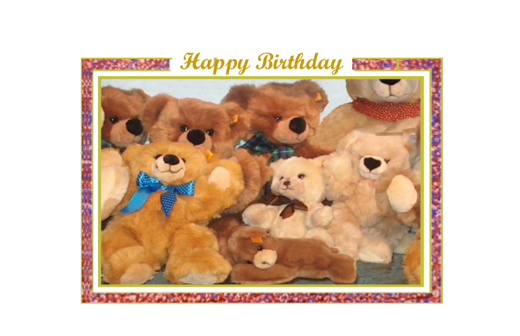 Happy Birthday, Teddy Bear Party