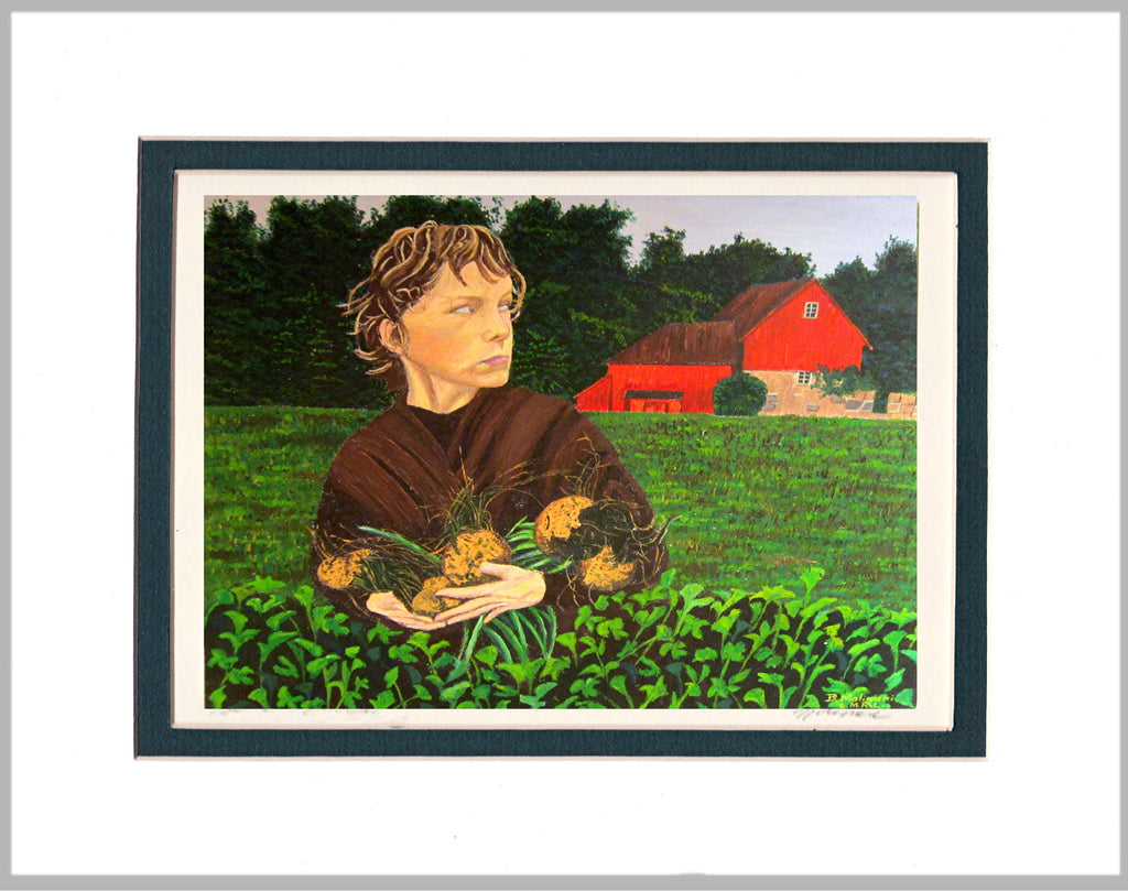 Turnip Thief Matted Print