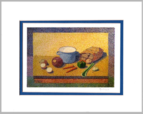 Still Life with Vegetables Matted Print