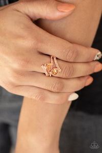 Paparazzi Jewelry & Accessories - Over The Top Glamour - Copper Ring. Bling By Titia Boutique