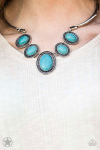 Paparazzi Jewelry & Accessories - River Ride - Blue Necklace. Bling By Titia Boutique
