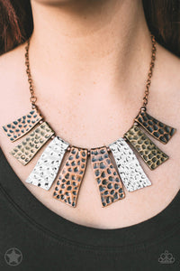 Paparazzi Accessories - A Fan of the Tribe - Blockbuster Necklace