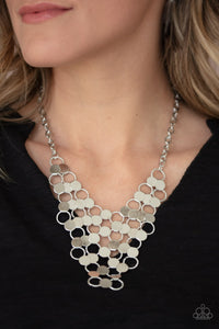 Paparazzi Jewelry & Accessories - Net Result - Silver Necklace. Bling By Titia Boutique