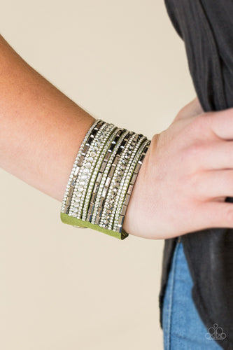 Paparazzi Accessories - Wham Bam Glam - Green Bracelet