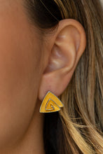 Load image into Gallery viewer, Paparazzi Jewelry & Accessories - On Blast - Yellow Earrings. Bling By Titia Boutique