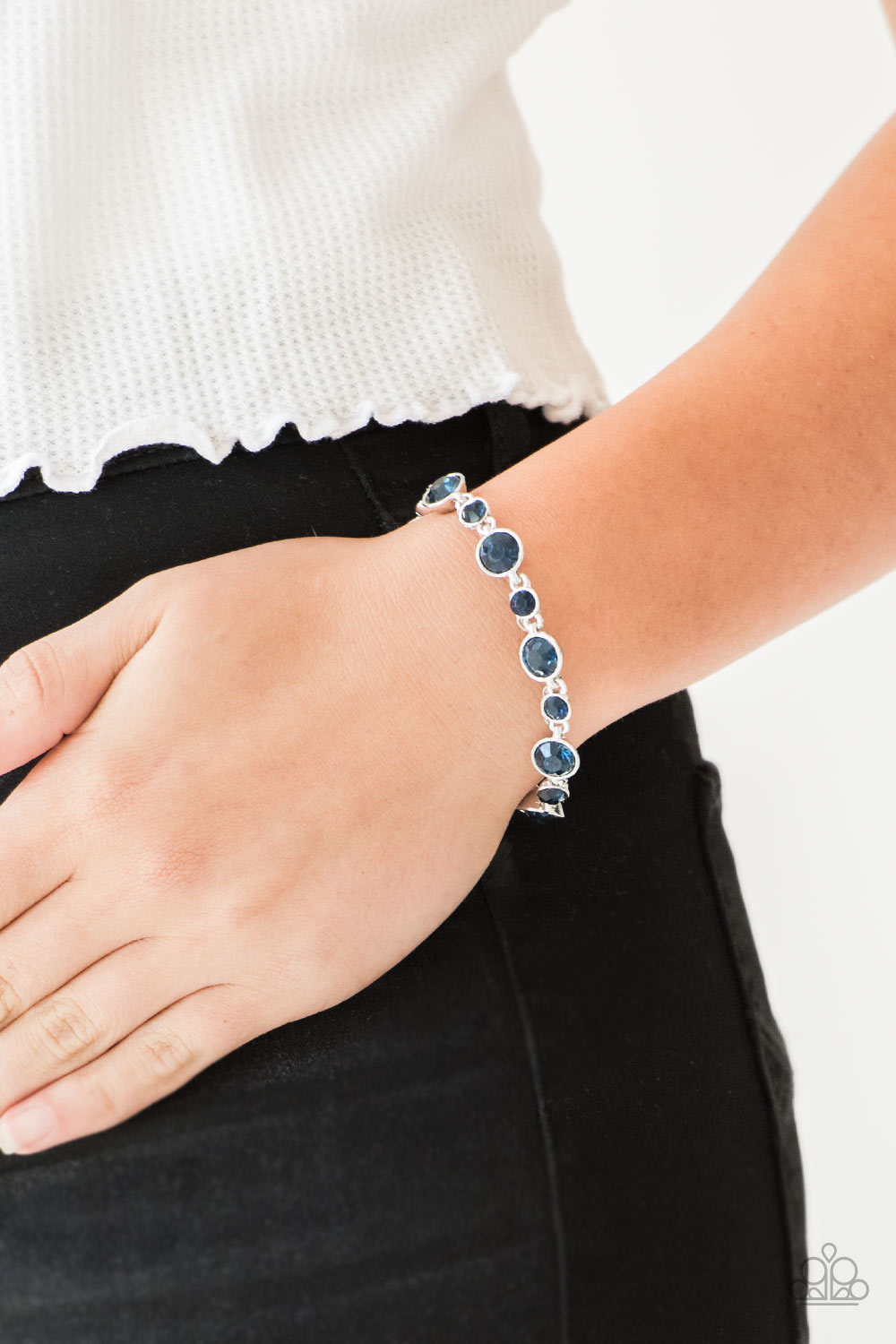 Paparazzi Jewelry & Accessories - Starstruck Sparkle - Blue Bracelet. Bling By Titia Boutique