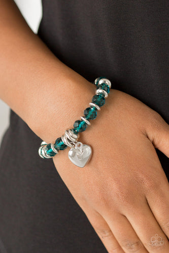 Paparazzi Accessories - Need I Say AMOUR? - Blue Bracelet