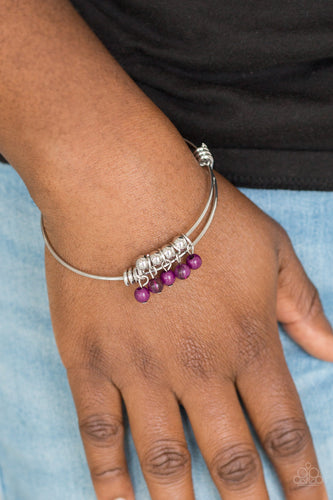Paparazzi Jewelry and Accessories All Roads Lead to ROAM silver purple bead bracelet. Bling By TItia