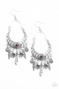 Paparazzi Jewelry & Accessories - Nature Escape - Red Earrings. Bling By Titia Boutique