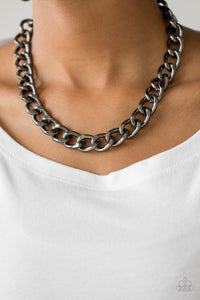 Paparazzi Jewelry & Accessories - Heavyweight Champion - Black Necklace. Bling By Titia Boutique