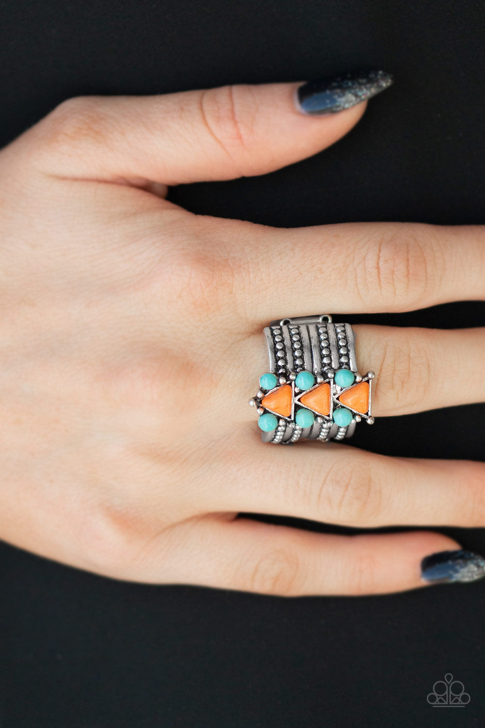 Paparazzi Jewelry & Accessories - Point Me Phoenix - Orange Ring. Bling By Titia Boutique