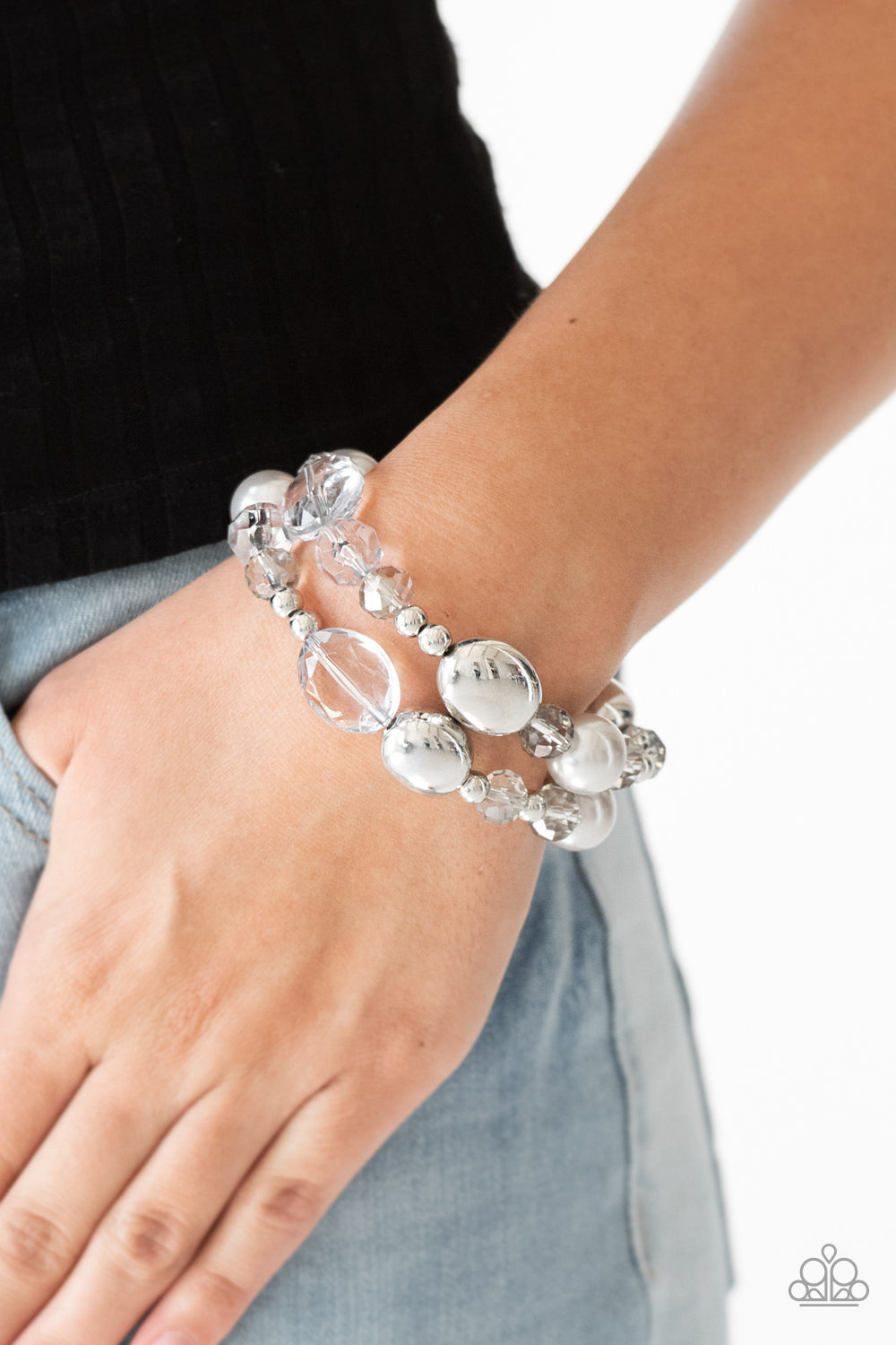 Paparazzi Jewelry & Accessories - Downtown Dazzle - Silver Bracelet. Bling By Titia Boutique