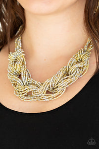 Paparazzi Jewelry & Accessories - City Catwalk - Gold Necklace. Bling By Titia Boutique