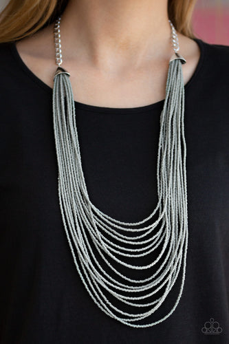 Paparazzi Jewelry & Accessories - Peacefully Pacific - Silver Necklace. Bling By Titia Boutique
