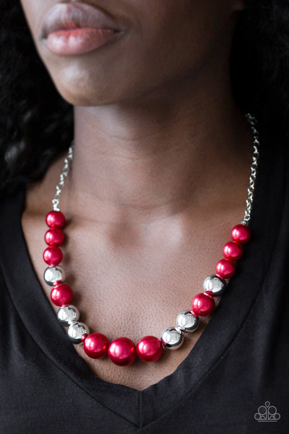 Paparazzi Accessories - Take Note - Red Necklace