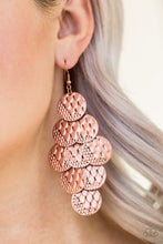 Load image into Gallery viewer, Paparazzi Accessories - The Party Animal - Copper Earrings