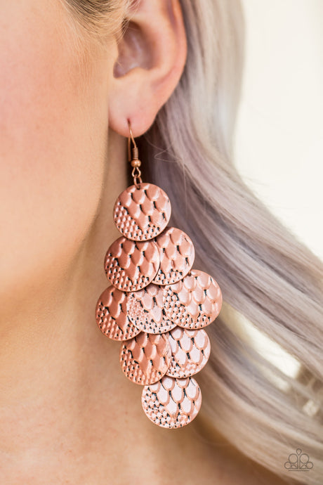 Paparazzi Accessories - The Party Animal - Copper Earrings