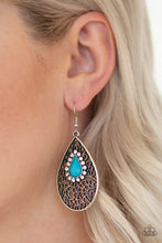 Load image into Gallery viewer, Paparazzi Accessories - Modern Monte Carlo - Blue Earrings