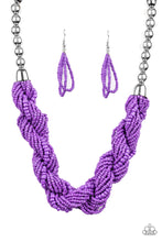 Load image into Gallery viewer, Paparazzi Jewelry & Accessories - Savannah Surfin - Purple Seed Bead Necklace. Bling By Titia Boutique
