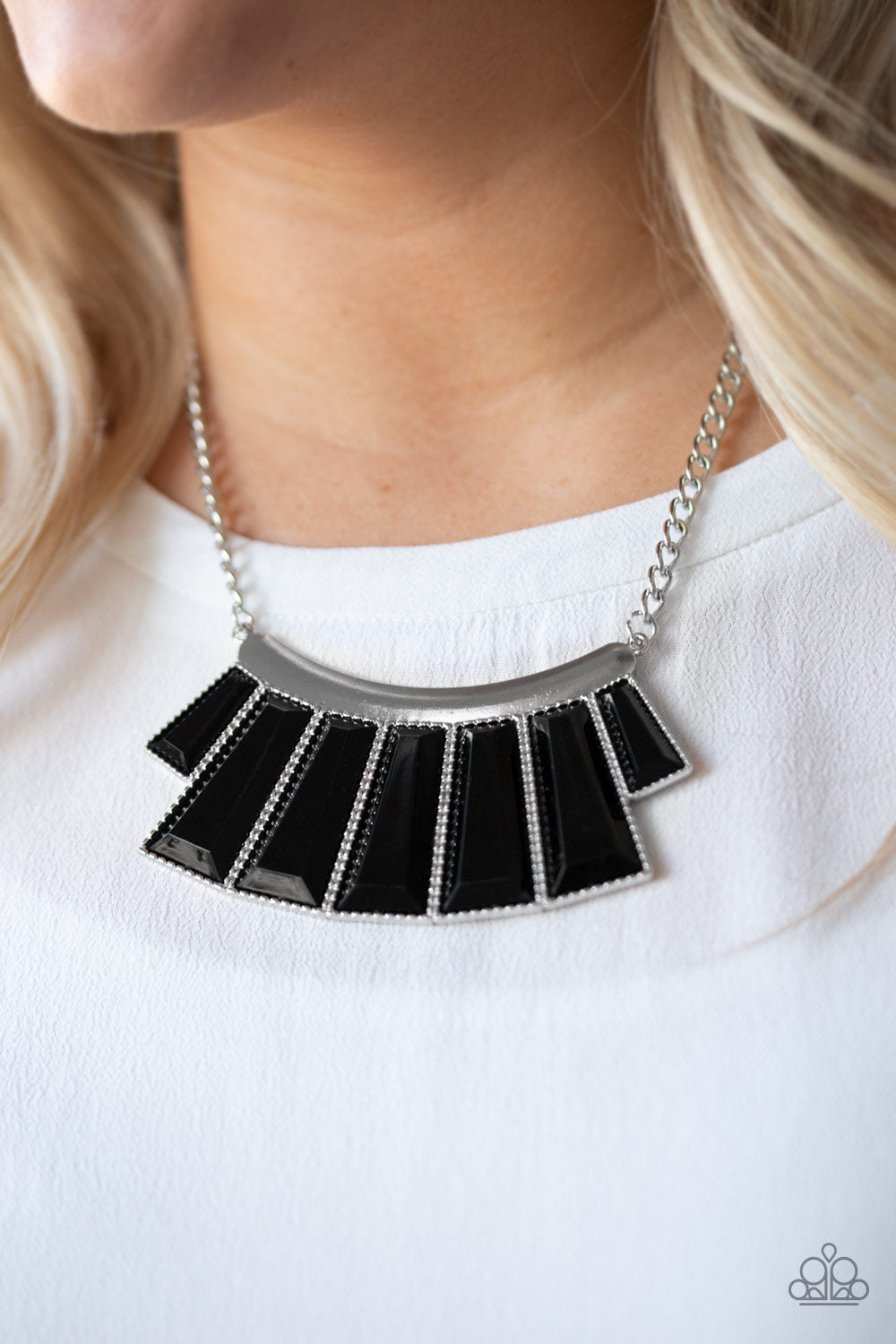 Glamour Goddess - Black Emerald Plates LOP Paparazzi Jewelry Necklace paparazzi accessories jewelry Necklaces