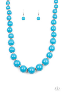 Everyday Eye Candy - Blue Bead Paparazzi Jewelry Necklace paparazzi accessories jewelry Necklaces