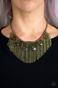 Paparazzi Jewelry & Accessories brass vixen conviction necklace. Bling By Titia
