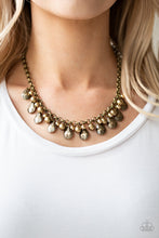 Load image into Gallery viewer, Paparazzi Jewelry & Accessories - Stage Stunner - Brass Bead Necklace. Bling By Titia Boutique