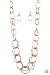 Paparazzi Jewelry & Accessories - Elegantly Ensnared - Copper Necklace. Bling By Titia Boutique