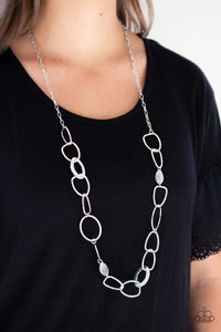 Paparazzi Jewelry & Accessories - Metro Nouveau - Silver Necklace. Bling By Titia Boutique