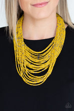 Load image into Gallery viewer, Paparazzi Jewelry & Accessories - Rio Rainforest - Yellow Seed Bead Necklace. Bling By Titia Boutique