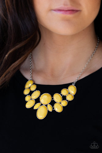 Paparazzi Jewelry & Accessories - Demi-Diva - Yellow Teardrop Necklace. Bling By Titia Boutique