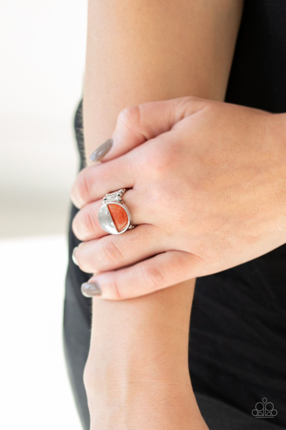 Paparazzi Accessories - Stone Seeker - Orange Ring