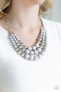 Dream Pop - Silver Bead Paparazzi Jewelry Necklace paparazzi accessories jewelry Necklace