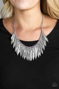 The Thrill Seeker - Silver Fringe Paparazzi Jewelry Necklace paparazzi accessories jewelry Necklaces