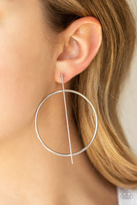 Paparazzi Accessories - Vogue Visionary - Silver Earrings