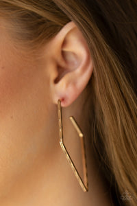 Paparazzi Jewelry & Accessories - Geo Grunge - Gold Earrings. Bling By Titia boutique