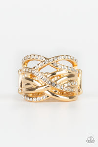 Paparazzi Accessories - High Rollin - Gold Ring
